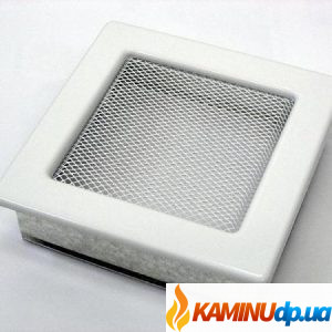 Решетка каминная белая 150х150
