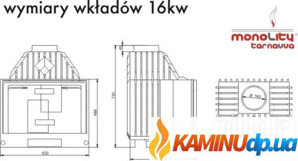 КАМИННАЯ ТОПКА MONOLITY UNICA 16 KW