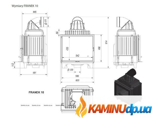 КАМИННАЯ ТОПКА FRANEK 10